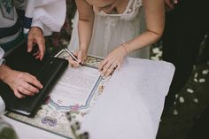 An earthy pastel-themed Jewish wedding at Villa Miani in Rome, Italy | Smashing the Glass | classic Ketubah