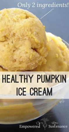 Instant pumpkin ice cream made with ONLY pumpkin puree and bananas. It tastes like real ice cream! #Vitamix Use code 06-006499 for free shipping at Vitamix.com