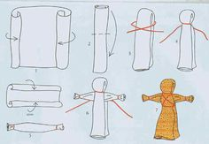Как сделать куклу мотанку из ткани своими