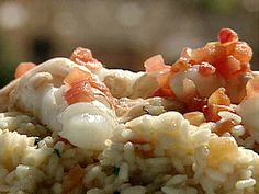 Risotto with Scampi and Champagne Recipe : Food Network - FoodNetwork.com