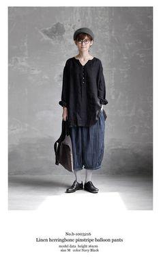 【送料無料】Joie de Vivreフレンチリネンヘリンボーンピンストライプ バルーンパンツ Chic Outfits, Fashion Outfits, Womens Fashion, Mori Fashion, Androgynous Fashion, Fashion Seasons, Japan Fashion, European Fashion, What To Wear