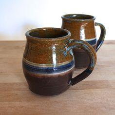 HandMade Pottery Mug  Cobalt Striped Mug  by CherieGiampietro, $24.00