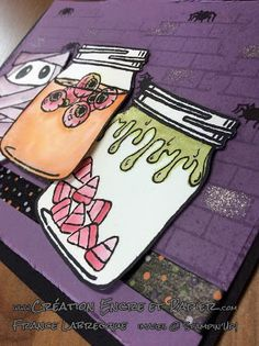 Stampin'Up! Carte Halloween Card Étampes / Stamp Set Jar of Haunts Étampes…