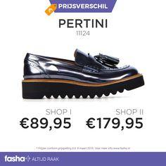 Vind jij het ook zo vervelend om tijdens het shoppen alle webshops te vergelijken? Dit hoef je nu niet meer te doen! Fasha vindt dagelijks grote prijsverschillen tussen webshops die hetzelfde artikel aanbieden maar dan voor een andere prijs. De prijzen worden bij Fasha overzichtelijk weergegeven bij hetzelfde artikel. Zo zie jij meteen waar het product het goedkoopst is.  Shop deze schoenen nu voor de beste prijs via http://www.fasha.nl/producten/pertini/11124/17427598