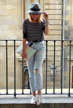 Look by @blueword with #zara #summer #jeans #spring #rayas #stradivarius #pullbear #hipster #hats #pantalones #chic #oxfords #parfois #silver #fashion #cool #outfit #ripped #love #outfits #daily #looks #ripyourjeans.