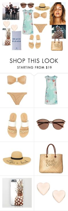"""""""Summer Beach Day With Why Don't We"""" by roxy-crushlings ❤ liked on Polyvore featuring Melissa Odabash, KS Selection, Soludos, Witchery, New Directions, White Stuff, Ted Baker, Milly and plus size dresses"""