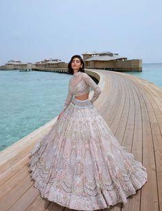 Desi Wedding Dresses, Indian Wedding Outfits, Indian Outfits, Bridal Dresses, Indian Attire, Indian Wear, Sirens Fashion, Sea Siren, Bridal Lehenga Collection