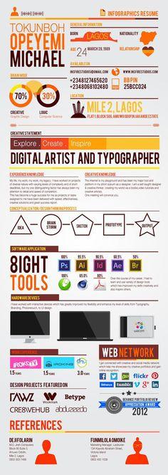 Resume : SELF BRANDING || Infographics Resume by Insfire Studios  via Behance
