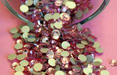 36 Swarovski Flatback Crystals Light Rose 16 ss by ThisPurplePoppy, $2.60  www.ThisPuplePoppy.etsy.com