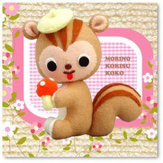 Crafty Cute Felt squirrel