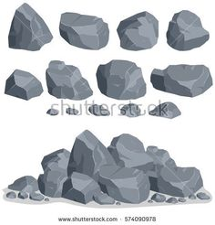 Find Rock Stone Set Cartoon Stones Rocks stock images in HD and millions of other royalty-free stock photos, illustrations and vectors in the Shutterstock collection. Digital Painting Tutorials, Digital Art Tutorial, Art Tutorials, Realistic Drawings, Art Drawings, Drawing Rocks, Art Environnemental, Concept Art Tutorial, Environmental Art