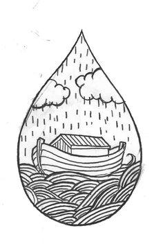 Custom Ark Water drop Temporary Tattoo SomaArtTattoo