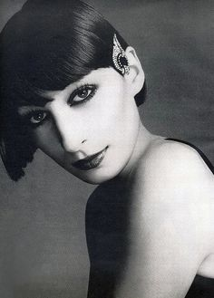 A young Anjelica Huston, photo by Richard Avedon for Vogue 1973 from hoodoothatvoodoo
