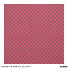 Fabric: Red & Plum dots