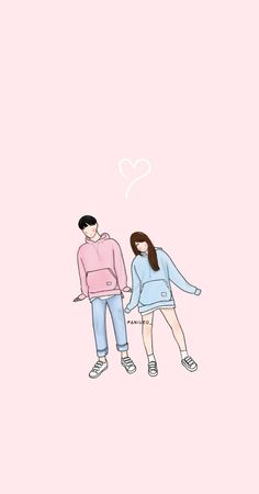 Cute Couple Wallpaper, Cute Anime Wallpaper, Cat Wallpaper, Cute Cartoon Wallpapers, Pretty Wallpapers, Art Love Couple, Cute Couple Drawings, Anime Couples Drawings, Best Friends Cartoon