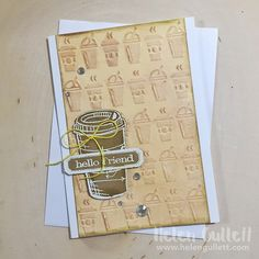 'Hello Friend' coffee card. Perfect for the coffee lover in your life!