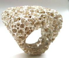 Emilie BLIGUET - 'coral' ring - silver