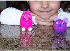 plastic Easter egg animals