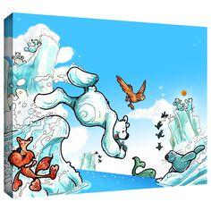 ArtWall Luis Peres 'Polar 2' Gallery-wrapped (14x18)
