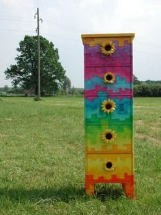 Image result for painted bee hives