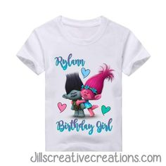 Trolls Birthday Shirt Please feel free to contact us if you have any questions placing an order jillsinvitations@gmail.com LIKE US ON FACEBOOK: https://www.facebook.com/groups/jillscreativecreations/