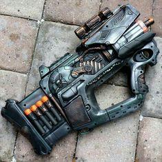 Steampunk Gun Nerf Firefly N-Strike Victorian Gothic Zombie Soft Dart Toy Steampunk Weapons, Style Steampunk, Sci Fi Weapons, Concept Weapons, Steampunk Design, Steampunk Cosplay, Weapons Guns, Fantasy Weapons, Steampunk Clothing