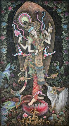 #Saraswati #mythology #religion #art #painting #details #Hindu