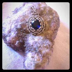 Sterling Silver Sapphire Charm