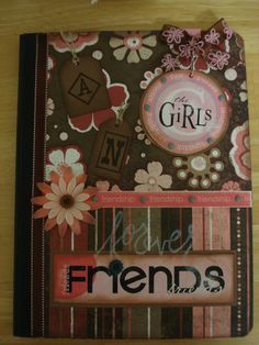 Altered Composition Book for Friendship/Circle Journal...