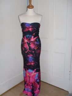 Butterfly print maxi dress - Louise Devlin Couture