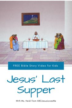 Enjoy an interactive Bible story by video and FREE activities for your preschool and elementary-aged child.  Your child will enjoy a Bible story, song, and memory verse time with Ms. Heidi.  #preschoolBible #ABCJesusLovesMe #BibletimewithMsHeidi #jesuslastsupper #communion #preschooleaster Sunday School Curriculum, Core Curriculum, Preschool Curriculum, Easter Activities, Free Activities, Jesus Last Supper, Preschool Bible, Memory Verse, Free Bible