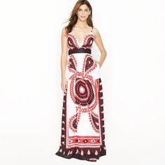 Bandana paisley maxidress - Cocktail - Women's dresses - J.Crew