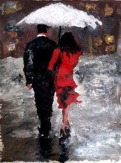 Togetherness between a couple is a feeling of love. So, celebrate if you have your love by your side. You are one lucky individual. #ValentineDay #Love #Painting #Art #Couple