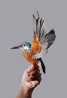 Nuevos pájaros de papel realistas de Diana Beltrán Herrera - POP-PICTURE: