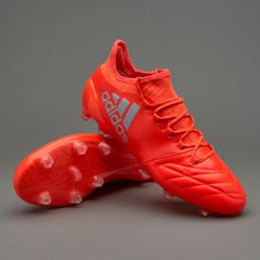 adidas X 16.1 FG/AG Leather - Solar Red/Silver Metallic/Hi-Res Red