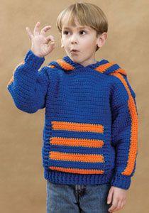 Sports Crochet Hoodie