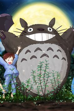 Studio ghibli Totoros BIG SMILE :D