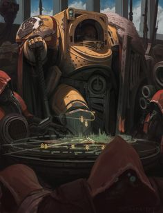 Warhammer 40000,warhammer40000, warhammer40k, warhammer 40k, ваха, сорокотысячник,фэндомы,Imperial Fists,Space Marine,Adeptus Astartes,Imperium,Империум,Terminator Squad,Techpriest,Adeptus Mechanicus,Mechanicum,Sebastian Schmidt,Servo Skull