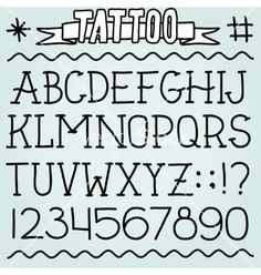 Old school tattoo font vector letters - by dmitriylo on VectorStock®