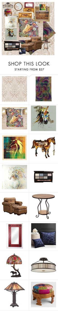 """Palate Contest - Equestrian"" by aurorasblueheaven ❤ liked on Polyvore featuring beauty, Brewster Home Fashions, Yosemite Home Décor, Florence Broadhurst and Quoizel"