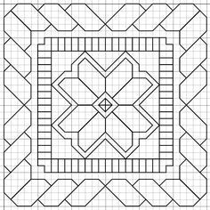 Paper Embroidery Patterns Janome quilt designs (multiple in link) - A good quilt is an asset to have for a whole range of occasions. Have fun making your own one and selecting your own pattern with our guide here! Blackwork Patterns, Blackwork Embroidery, Paper Embroidery, Learn Embroidery, Zentangle Patterns, Embroidery Patterns, Cross Stitch Patterns, Quilt Patterns, Graph Paper Art