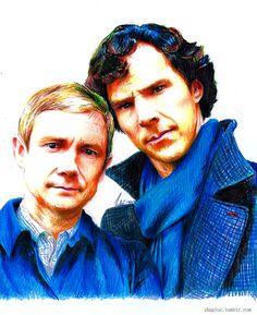 John Watson and Sherlock Holmes by Shuploc on DeviantArt