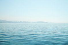 Blue Photograph - Marmara Sea - Simple Blue by Svetlana Yelkovan #SvetlanaYelkovanFineArtPhotography  #ArtForHome #FineArtPrints  #Sea #Travel #Blue #Istanbul #MarmaraSea