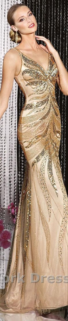 Alyce Paris design #elegant #large #formal #sparkly #gold #dress           jaglady