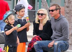Gwen Stefani and Gavin Rossdale take their boys Kingston and Zuma to the park