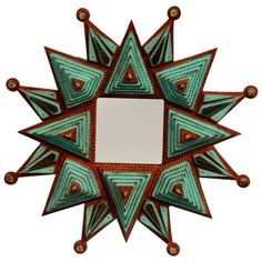 Starburst Tramp Art Frame by Angie Dow | From a unique collection of antique and modern wall mirrors at http://www.1stdibs.com/furniture/mirrors/wall-mirrors/