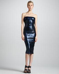 Donna Karan Twisted Tube Dress, New Navy