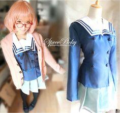 [境界の彼方]Cos Kuriyama Mirai Uniform Set Top and Pleated Skirt