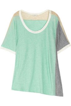 Clu - Color-block jersey top #want