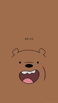 Pin Oleh Di Di 2019 Seni Kucing Wallpaper within We Bare Bears Grizz Wallpaper Soft Wallpaper, Bear Wallpaper, Kawaii Wallpaper, Cute Wallpaper Backgrounds, Iphone Backgrounds, Wallpaper Wallpapers, We Bare Bears Wallpapers, Panda Wallpapers, Cute Cartoon Wallpapers